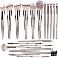 20-Piece BESTOPE Premium Synthetic Makeup Brushes With Champagne Gold Conical Handle