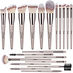 MULTIPLE MAKEUP BRUSHES: This set has great value and large capacity. Including 7 PCs face basic brushes, 8 PCs eyeshadow brushes and 5 PCs additional brushes, to meet your general daily makeup needs for application. Great for makeup beginners and pr...