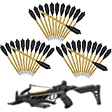 Vsduiria 6.5 Inch Aluminum Crossbow Bolts Arrows,Mini Hand Crossbow Arrows for 50lb/80lb, Small Handheld Crossbow Arrow Suitable for Practicing Shooting Target, Small Hunting,36 Pack