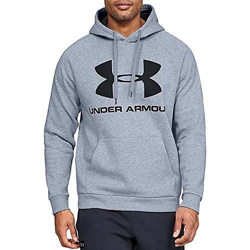 Under Armour Rival Fleece Sportstyle Logo Sudadera, Hombre, Gris, SM