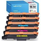 MyCartridge - 5 toner compatibili con Brother TN-247 TN247 [con chip] per stampanti Brother MFC-L3750CDW MFC-L3710CW MFC-3730CDN MFC-L3770CDW DCP-L3550CDW HL-L3210CW HL-L3230DW HL-L3270DW DCP-L3510CDW DCP-L3517CDW (2 nero/ciano/magenta/giallo)