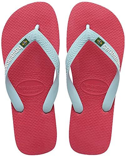 Havaianas Unisex-Kinder Brasil Logo Zehentrenner, Pink (Flamingo), 31/32 EU