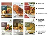 Jaswant's Kitchen Indian Spice Blends with Recipes - 6 Pack (Chicken Curry/Daal/Aloo Gobi/Channa...