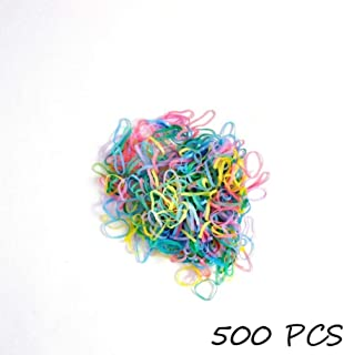 Colored All-Purpose Rubber Bands 500Pcs / Bag Colored Elastics Kids Elastic Hair Bands Ponytail Holder Cute Women's Hair Ring