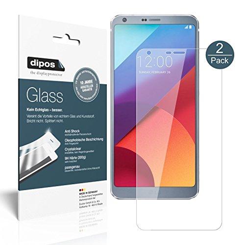 dipos I 2X Protector de Pantalla Compatible con LG G6 Vidrio Flexible...