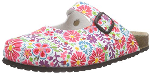 softwaves Damen 276 057 Clogs, Mehrfarbig (White Multi 199), 42 EU
