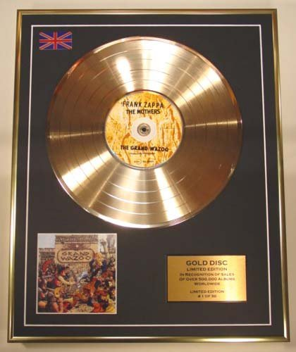 FRANK Zappa/CD Gold Disc Record Limited Edition/The Grand Wazoo