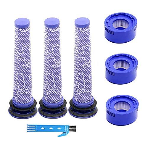 3 Vorfilter und 3 Nachmotor-HEPA-Filter für Dyson V7 V8 Staubsauger-Ersatzteile für Dyson V7 V8 Tier- und Absolut-Akku-Zubehörsatz