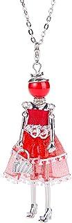 iEay Bijoux Fashion Femme - Colliers Poupée de chiffon - Collier dames glamour - Colliers Alliage Perle Strass