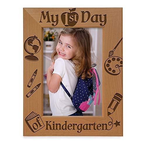 KATE POSH - My First Day of Kindergarten Picture Frame (5x7 Vertical)