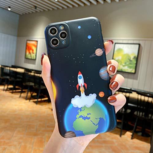 Handyhülle für iPhone XS, Ultra-Slim Gel TPU Gummi Glänzend Glatt IMD Design Hautabdeckung Ganzkörperschutz Stoßdichte Stoßstange IMD Hülle für iPhone X - Rocket
