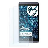 Bruni Schutzfolie kompatibel mit Gionee Elife S Plus Folie, glasklare Bildschirmschutzfolie (2X)