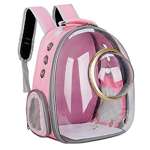 Aerlan Mochila de Viaje para Llevar Mascota Transpirable,Mochila de Adorno, cápsula de Espacio para Mascotas-Rosa,para Mascotas Transporte Plegable Portador de Viaje
