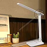 2021 LED Desk Lamp, Touch Control Desk Lamp with 3 Levels Brightness, Dimmable Office Lamp with Adjustable Arm, Foldable Table Desk Lamp for Table Bedroom Bedside Office