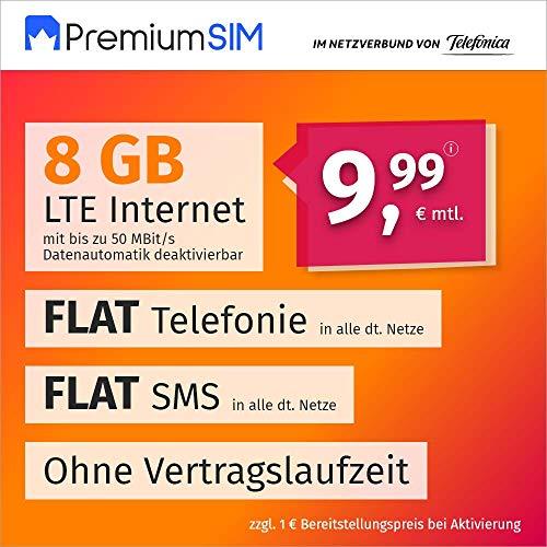 PremiumSIM Traité de téléphone Portable LTE - Allumage mensuel