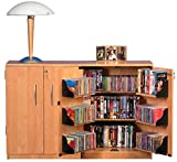 Double Multimedia TV Cabinet-Oak