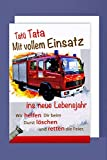 Feuerwehr Geburtstag Karte Grußkarte Löschzug Retter Foliendruck 16x11cm Plus 3 Sticker