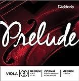 D'Addario J913-Mm Prelude - Muta di Corde Sol per Viola, in Acciaio al Carbonio/Nichel, Tensione: Medium