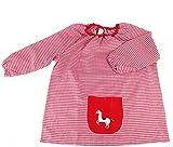MASMAS Baby Infantil de Cuadros, Babi Poncho sin Botones Conjunto de Uniforme Colegial para Bebe, niños y niñas,Bata Escolar Unisex (Rojo, 4)