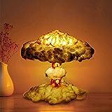 3D Mushroom Cloud Explosion Lamp,Little Boy Atomic Bomb Model,LED Art Deco Table Lamp,Nuclear Explosion Lamp Mushroom Cloud-Three-Color