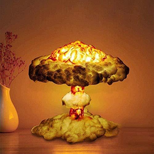 Lámpara de explosión de nubes de hongos 3D,Modelo de bomba atómica Little Boy,Lámpara de mesa LED Art Deco,Lámpara de explosión nuclear Seta Nube de tres colores