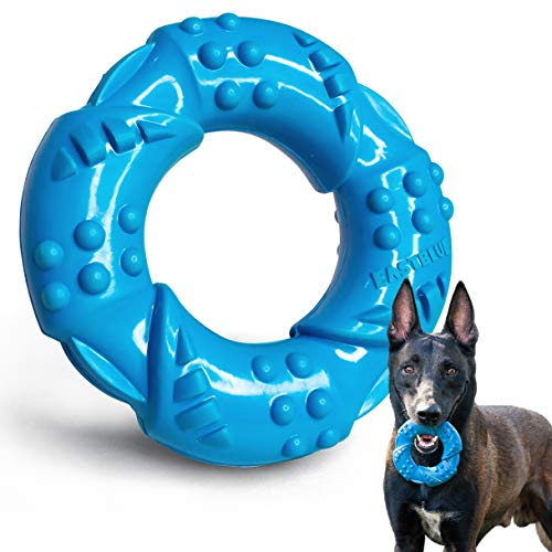 EASTBLUE Kauspielzeug für Hunde für Aggressive Kauer: extrem Robustes Kauspielzeug aus Naturkautschuk, Fast unzerstörbar, für mittelgroße und große Rassen