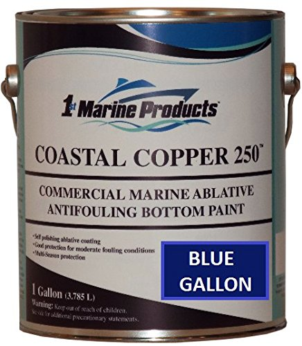 US Marine Products Blue Gallon Coastal Copper 250 Ablative Antifouling Bottom Paint Blue Gallon