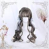 Cvthfyky Bastante pelucas del cordón Bob Casual Negro encantadora corta ondulada natural suelta la onda corta peluca sintética Natural largo rizado castaño ondulado Luz (Color : Linen)
