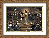 One Nation Under God 2X Matted 30x23 Large Gold Ornate Framed Art Print by Jon McNaughton