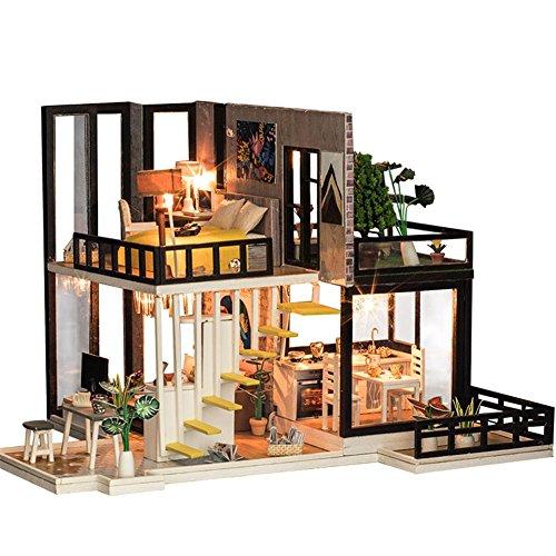 DIY Kleines Haus South Breeze DIY Miniatur Holz Puppenhaus LED Möbel Kit 3D Puzzle Spielzeug Kind DIY Kabine September Wald