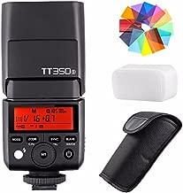 EACHSHOT Godox TT350S 2.4G HSS 1/8000s TTL GN36 Wireless Speedlite Flash for Sony Mirrorless DSLR A7 A7R A7S A7-II A7-III A7R-II A7R-III A7S-II A6300 A6000 w/Color Filter