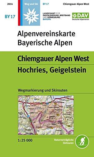Chiemgauer Alpen, West, Hochries, Geigelstein: Topographische Karte 1:25.000 mit Wegmarkierungen und Skirouten (Alpenvereinskarten)
