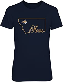FanPrint Montana State Bobcats T-Shirt - Home in State Outline - If-Ic13-Ds64