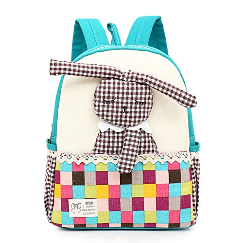 Vans mochila,Linda chica mochila,Bolsa de escuela de lona para niños Mochila mochila para niños pequeños Mochila preescolar de guardería,Conejo 3D (1-5 años de edad)