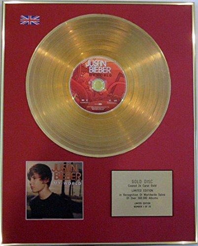 Century Music Awards JUSTIN BIEBER - CD 24 carati disco d'oro - MY WORLD