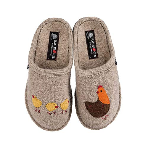 HAFLINGER Gallina Women's Wool Slippers, Natural, 37EU