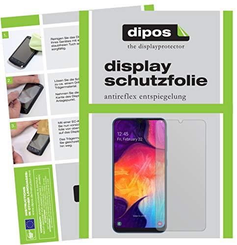 dipos I 6X Schutzfolie matt kompatibel mit Samsung Galaxy A40 Folie Displayschutzfolie (bewusst Kleiner als das Glas, da Dieses gewölbt ist)