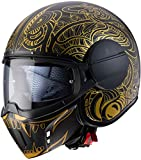Caberg CASCO JET GHOST MAORI MATT BLACK/GOLD XS