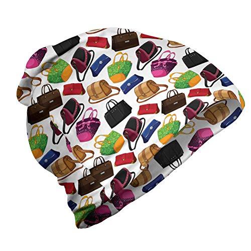 ABAKUHAUS Mode Unisex Beanie, Statement Taschen Clutch Tasche, Wandern im Freien, Mehrfarbig