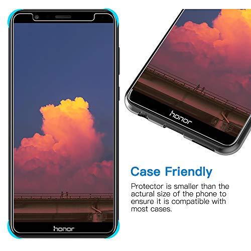 TOCYORIC Panzerglas Displayschutzfolie für Huawei Honor 7X, Ultra Dünn HD Transparenz Schutzfolie Anti-Öl, Anti-Kratzer, Blasenfrei, 9H Gehärtetes Glas Displayschutz für Huawei Honor 7X, 2 Stück - 3