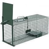 Trampa animales vivos - Martas Conejos Ratas - 60x23x23cm Trampa de alambre -...