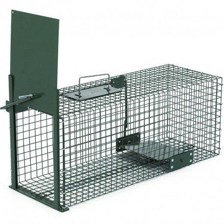 Trampa animales vivos - Martas Conejos Ratas - 60x23x23cm Trampa de alambre...