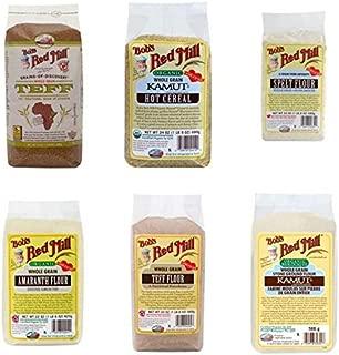 Dr. Sebi Approved flour Combo Package- Organic-Kamut, Amaranth, Spelt, Dark-Rye, Teff -Starch/Gluten Free