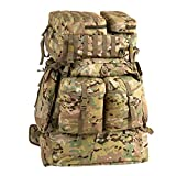 MT Assembly Military Rucksack Tactical Assault Backpack Hydration Pack System with Frame and Hip Belt Multicam