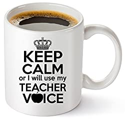 Retirement gifts for teachers include funny mugs.