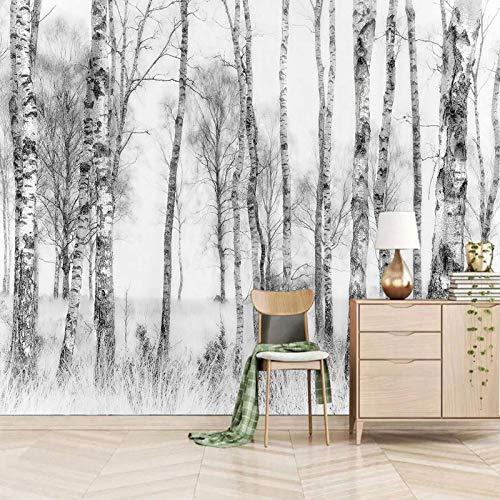 ZEISIX 3d tapete kinderzimmer wandtattoo wandkunst/Weiß Pflanzen Hölzer/fürs wohnzimmer kinderzimmer schlafzimmer küche büro junge flur babyzimmer abstrakt deko mädchen jugendzimmer esszimmer kaff