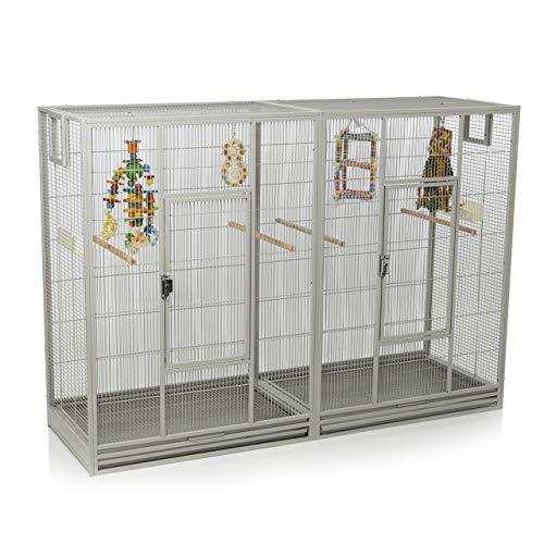 Montana Cages ® | Vogelkäfig Melbourne 160 - Platinum Doppelkäfig, Käfig XL, Voliere für Sittiche & Finken