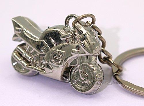 boost-key.com Mini Motorrad Chrom Metall Schlüsselanhänger von VmG-Store