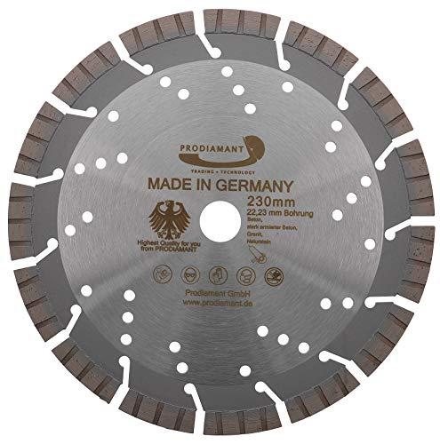 PRODIAMANT Profi Diamant-Trennscheibe Beton Granit OXX 230 mm x 22,2 mm Diamanttrennscheibe PDX82.118 230mm