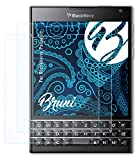 Bruni Schutzfolie kompatibel mit BlackBerry Passport Folie, glasklare Bildschirmschutzfolie (2X)